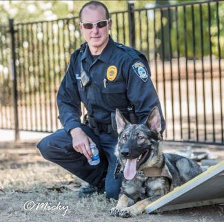 Picture of K9 Blitz and Officer Davis