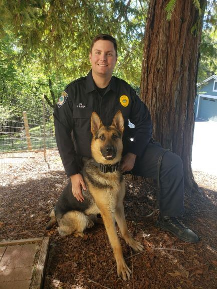 Picture of newest team members K9 Kash and Officer Rinek