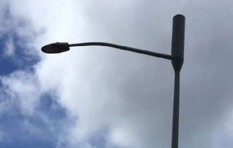 Wireless Telecommunication Faciltiy on Street Light Pole