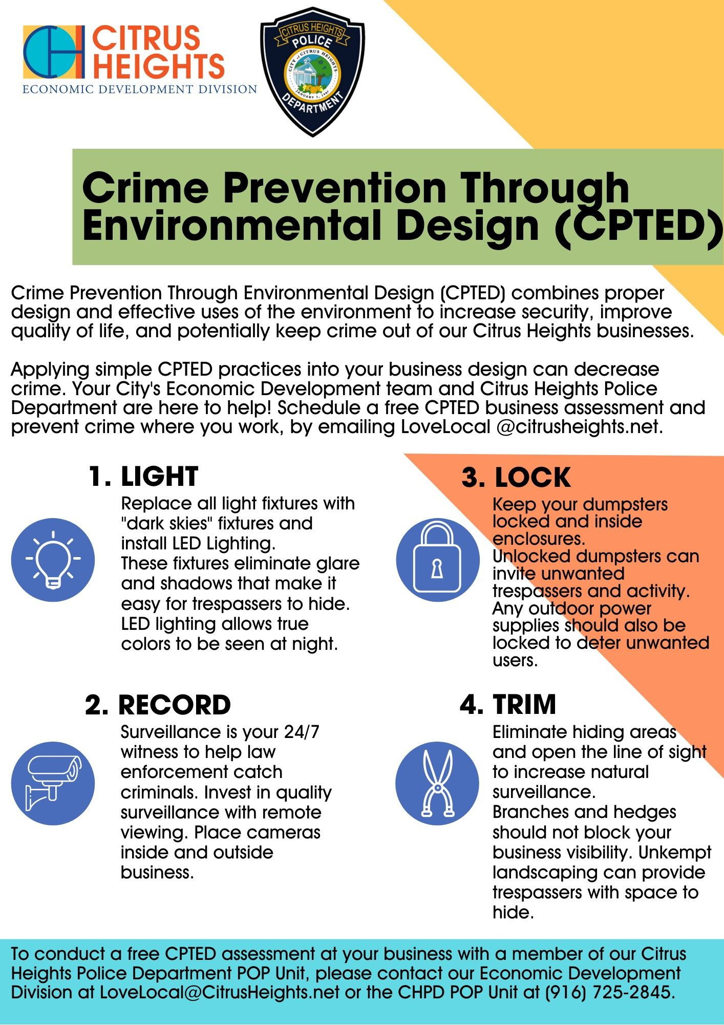 Crime Prevention Through Environmental Design Flyer Opens in new window